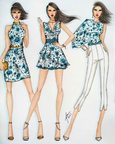 Dress Fashion Illustration Casual Source by Dresses illustration Dress Design Drawing, Dress Design Sketches, Fashion Design Drawings, Fashion Sketches, Fashion Drawing Dresses, Fashion Dresses, Casual Dresses, Fashion Illustration Face, Fashion Illustrations