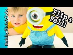 Flipping Minion Behind the Scenes! Pool Time with Bob by HobbyKidsVids