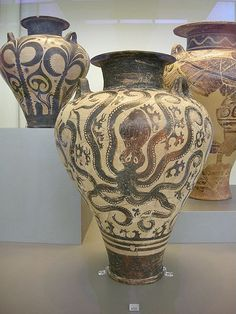 Cthulu pot! Vase found in Mycenaean cemetery at Prosymna, Argos. 15th century BC. Photo by Sailko.