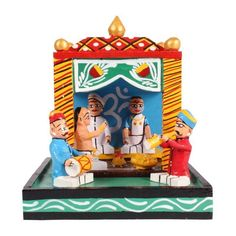 Kondapalli Kalyan Mandapam(Marriage Set) - Dista Cart Cool Gifts For Kids, Vibrant Colors, Colours, Old Toys, Traditional House, Wedding Styles, Best Gifts, Marriage, Handmade Items