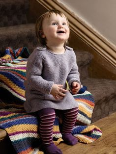 Swift from Just Baby (ZB116) is a collection of 18 baby and toddler designs by Lisa Richardson featuring classic sweaters and cardigans which have been given a slight twist with the addition of button detailing and fully fashioned shaping. There are also fun dungarees and romper suits in strong colour blocked patterning. All designs are knitted using NEW YARN! Rowan Baby Merino Silk DK | English Yarns