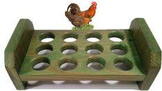 Reclaimed Wood Egg Holder Small Bantam Tray by AlleyCatDesignSt