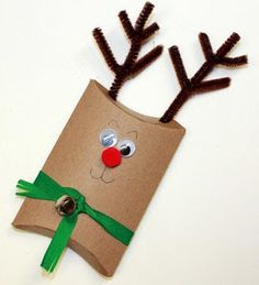 Rudoph the red-nosed reindeer…you should all be happy you are just reading that and I'm not actually singing it! I am so excited to share these reindeer Christmas Activities, Christmas Crafts For Kids, Kids Christmas, Christmas Ornaments, 242, Childrens Christmas, Pillow Box, Diy Weihnachten, Christmas Gift Wrapping
