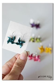 How to Make Clay Pinwheel Earrings ~ these are so simple and cute, a perfect summer craft!! Sugar Bee Crafts by wanting