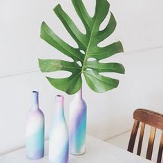 Além das dicas para deixar a casa mais verde e cheia de vida,  @crisnogueira também falou sobre upcycling, um conceito que ela emprega na @mudaatelietropical -- basicamente reinventar objetos que não se usa mais, dando uma nova cara a eles, como a carioca fez com essas garrafas tie-dye que servem de vaso para arranjos modernos e charmosos 🌿 Muito bacana, né? Dá para saber + pelo link da bio🌵 #SummerStories #DIY . . . #natureza #natural #flor #amor #foto #like #instagood #equilibrio…