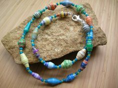 Bead for Life Paper Bead Necklace | TheCraftyTurtle - Jewelry on ArtFire