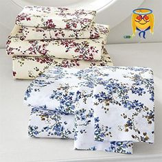 #amazing Add a beautiful touch of spring time style to any bed with this pretty watercolor floral print #sheet set. You'll #love its soft to-the-touch feel and su...
