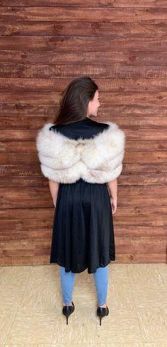 Vintage 1950s blue fox fur clip closure stole One Size | Etsy