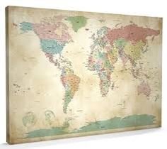 40 creative remakes of the world map creative image result for vintage style canvas world mapsvintage gumiabroncs Image collections