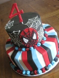 spiderman cake Oliver wants a spiderman party again lol and he wants this cake!