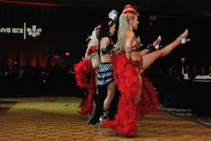 Burlesque dancers are a fun way to engage your crowd - often times they'll pull up a person or two from the crowd.