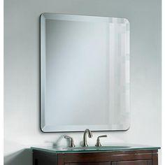 Frameless Rectangular 40 Quot High 30 Quot Wide Beveled Mirror
