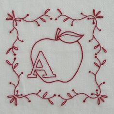 Embroidery Alphabet, Crewel Embroidery Kits, Embroidery Patterns Free, Hand Embroidery Designs, Cross Stitch Embroidery, Embroidery Books, Beginner Embroidery, Alphabet Quilt, Embroidery Boutique