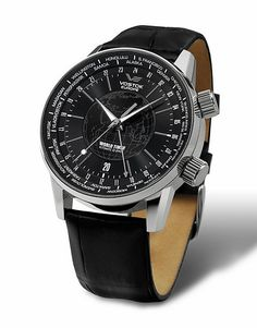 Vostok Europe Gaz-14 Limousine World Timer Silver/Black Watch 2426/5605239