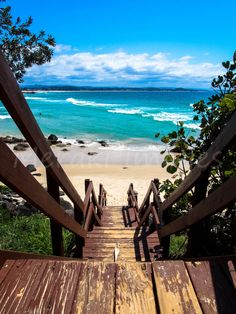 Travel Photography Wall Art Print - Stairway to Heaven, Greenmount, Coolangatta Australia by merakiimagesbyKim on Etsy