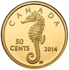 Canadian Coins, Seahorses, Gold Rush, Rare Coins, Gold Coins, Fountain Pens, Precious Metals, Investing, Stamps