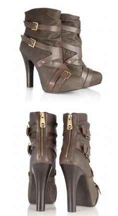 Wish I could wear heels... (Michael Kors Tatum buckle bootie)