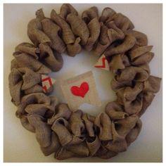 DIY Burlap wreath Valentine's