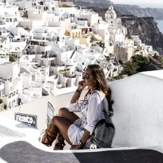 SANTORINI !!!!!!! If not now when ????  #santorini #visitgreece  #oia #ilovegreece #greece #travel #whitetheme #ootd