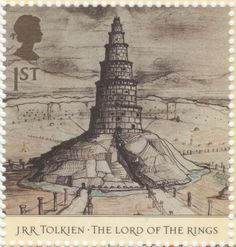 UK - 1st class - JRR Tolkien The Lord Of The Rings Stamp - 2004.  Orthanc.
