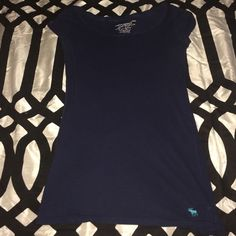 A&F tee Scoop neck navy tee Abercrombie & Fitch Tops Tees - Short Sleeve