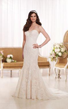 D1788 Backless Lace Wedding Dress by Essense of Australia