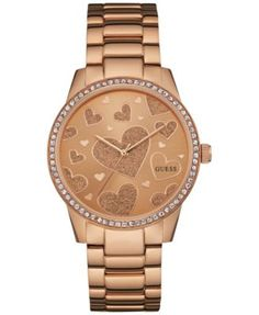 GUESS Women s Rose Gold-Tone Stainless Steel Bracelet Watch 40mm U0699L3  Jewelry   Watches - Watches - Macy s b5ef1d46ec7