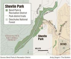 Shevlin Park, Bend OR : This is a great place to walk, run, bike or picnic by the river and just a few minutes west of downtown.