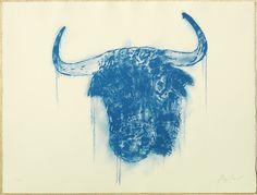 Cyan Bull, Litography, Edition of 25, 2012.