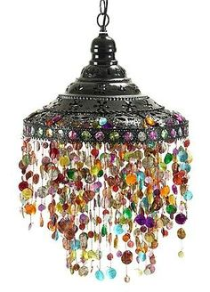 Beads Lamp Hanging pendant lamp Hanging pendant light with beads boho lamp Bohemian lamp Ceiling light Beaded light from Turkish Delight exotic decor. Gypsy Decor, Bohemian Decor, Bohemian Gypsy, Bohemian Lighting, Bohemian House, Boho Life, Bohemian Clothing, Gypsy Style, Hippie Style