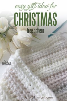 Easy DIY Gift Idea! The pattern for this crochet blanket for beginners uses one stitch only – half double crochet (not to count chaining a foundation row). Easiest crochet project ever! You can also use this stitch to crochet a quick scarf. #easycrochetblanket #easyblanketstitch Modern Crochet Patterns, Crochet Stitches Patterns, Crochet Gifts, Crochet Baby, Easy Crochet Blanket, Crochet Afghans, Crochet Instructions, Crochet For Beginners, Double Crochet