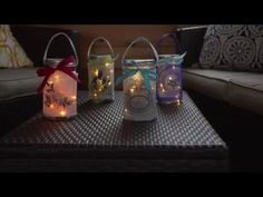 Light up the night with a sparkling Mason jar wrap! Learn how to make a wrap for the jar out of organza, then transform the jar into a light with this video . Sewing Machine Embroidery, Embroidery Ideas, Mason Jars, Diy Jars, Light Up, Sewing Projects, Sparkle, Diy Crafts, Crafty