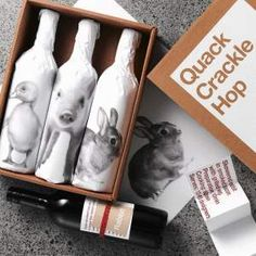 Alt Group NZ packaging. Just too cute Quack, Crackle, Hop #wine #packaging : ) PD