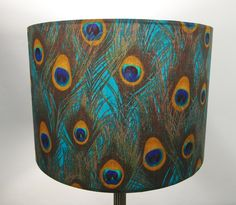 Handmade Drum Lampshade in gorgeous Harlequin Demoiselle Ink Dragonfly Fabric. Feather Lamp, Fabric Ceiling, Modern Lamp Shades, Ceiling Shades, Blue Ceilings, Peacock Decor, Feather Crafts, Feather Design, Recycled Fabric