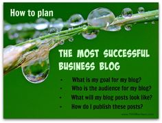 "Just ""having"" a blog won't make a difference; it's what you do with the blog…"