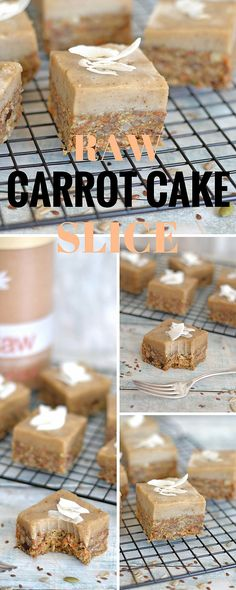 Raw Vegan & Paleo Carrot Cake Protein Slice #paleo #vegan #raw