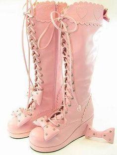girly lolita boots
