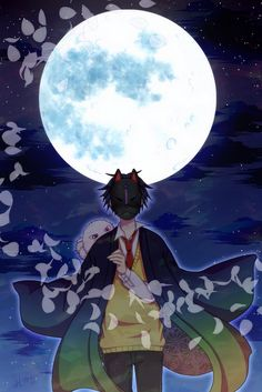 Ashiya Hanae with kitsune mask & Fuzzy Anime Chibi, Manga Anime, Anime Art, Kitsune Mask, Divas, Natsume Yuujinchou, Anime Love Couple, Handsome Anime, Avatar Couple