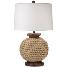 Pacific Coast Monterey Table Lamp ($170) ❤ liked on Polyvore featuring home, lighting, table lamps, home decor, lamps, table lamp, natural, handmade lamps, pacific coast lamps and handmade lights