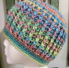 crochet beanie ponytail hole pattern