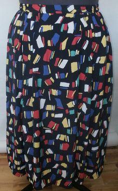 vintage patterned skirt by BelovedEndeavour,