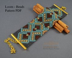 Sale20% Celitana Loom, Bracelet pattern, Loom pattern, woven on a loom, Beading Loom, Pattern Beading, Tutorial PDF, Instant download,
