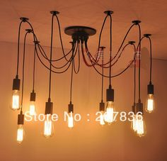 Aliexpress.com : Buy Modern Carbon Filament 10 Lights Edison Bulb pendant lamp  light Fixtures with bulbs from Reliable light and suppliers ...