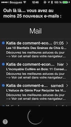 Comment faire lire ses emails à Siri iphone