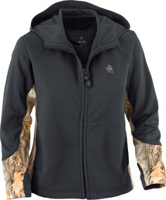 *Ladies Faithful Full Zip Hoodie*  One of our most popular ladies' hoodies is now available in Charcoal with God's Country® Camo!