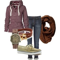 Hate the shoes. But love the rest. perfect fall casual outfit.