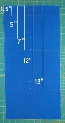 Free Pattern and Instructions to Make a Fold Up Travel Case: Prepare the Exterior Fabric
