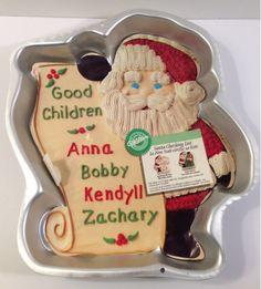 Wilton cake pan Santa Checking List - eBay $9.97