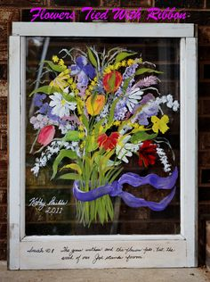 Hand Painted Window By Kathy Shields