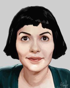 Audrey Tautou - Amelie Poulain by aomcesare.deviantart.com